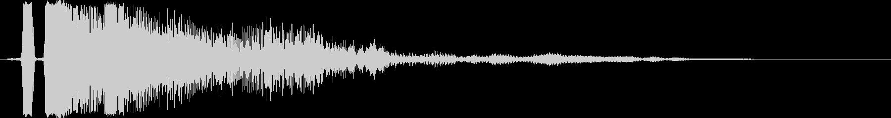 タッチ決定クリック、ボタン音に最適11!の未再生の波形