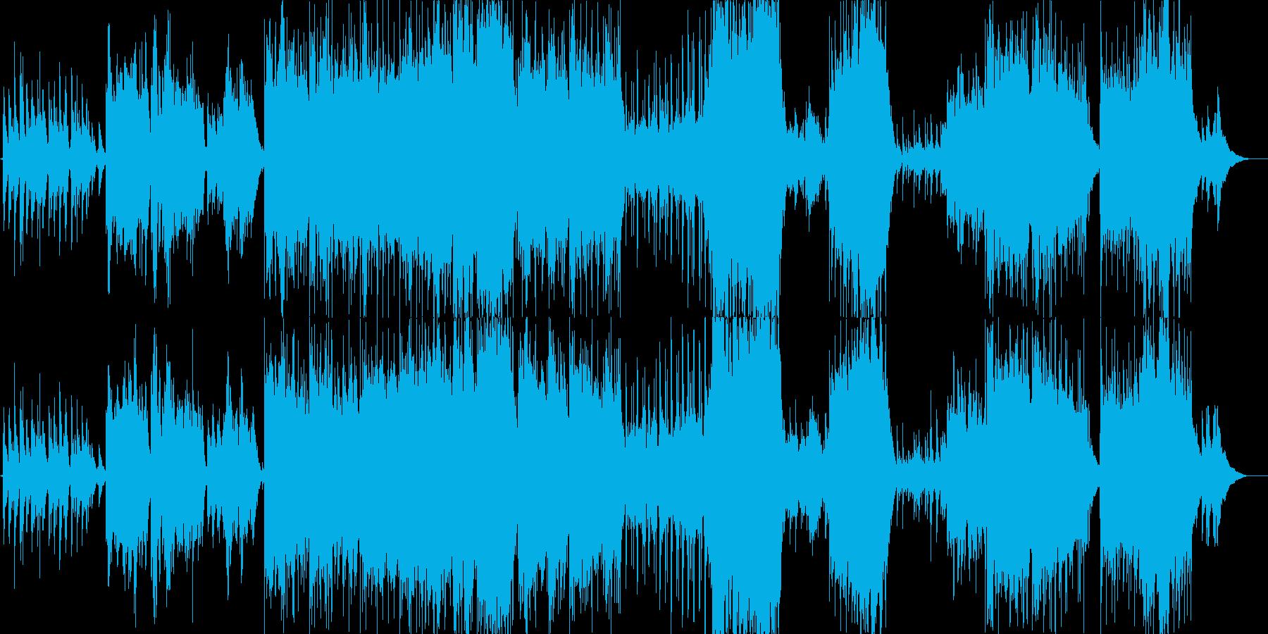 人生の営みを時間の流れで捉えた楽曲の再生済みの波形