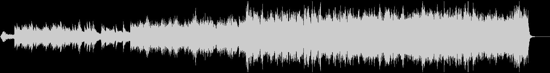 感動的なオーケストラのBGMの未再生の波形