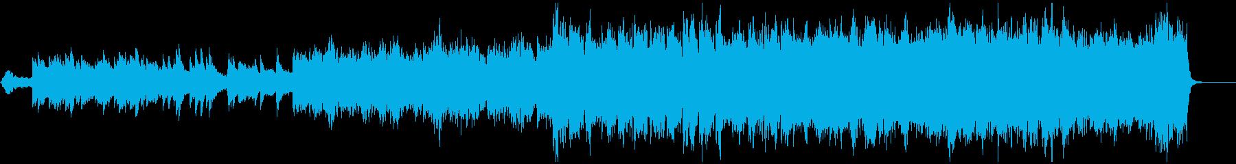 感動的なオーケストラのBGMの再生済みの波形