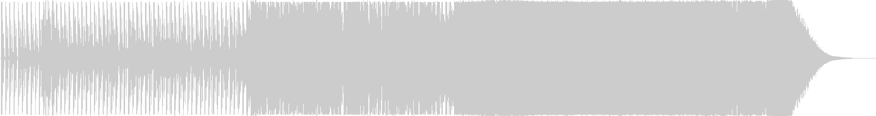 EDM風のラベルのボレロの未再生の波形