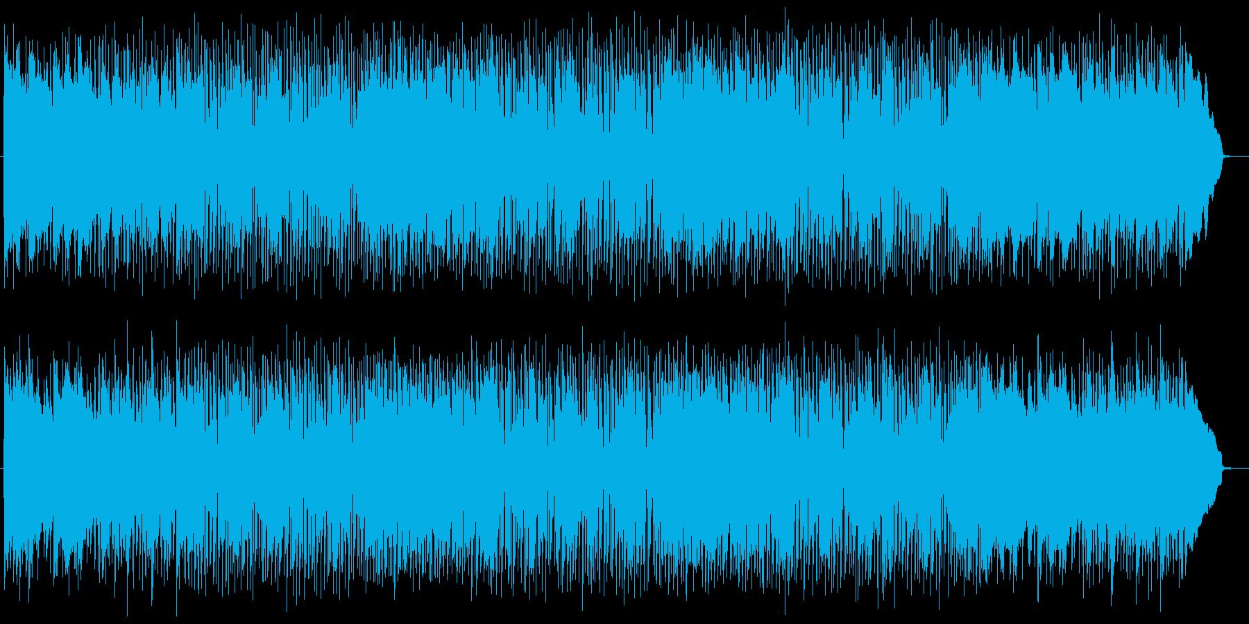 エレキとピアノの躍動感溢れるサウンドの再生済みの波形