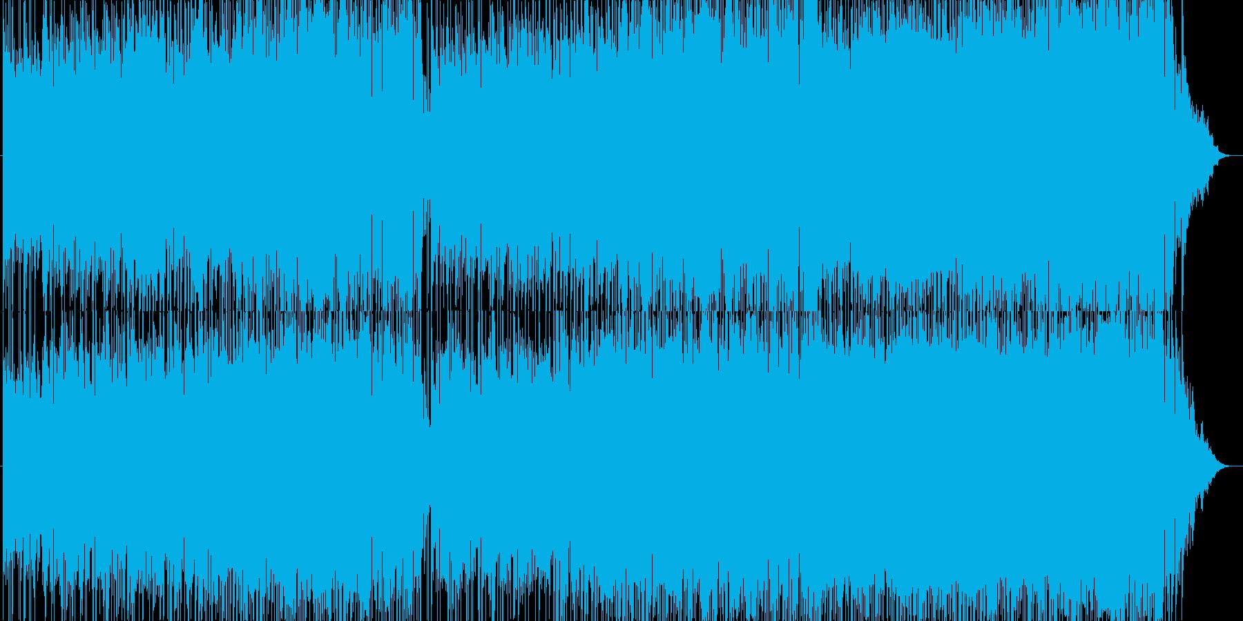 バイオリン、70年代ポップロックの再生済みの波形