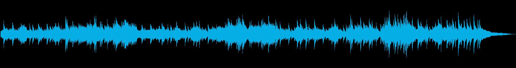 フルートとピアノの ほのぼのとしたワルツの再生済みの波形