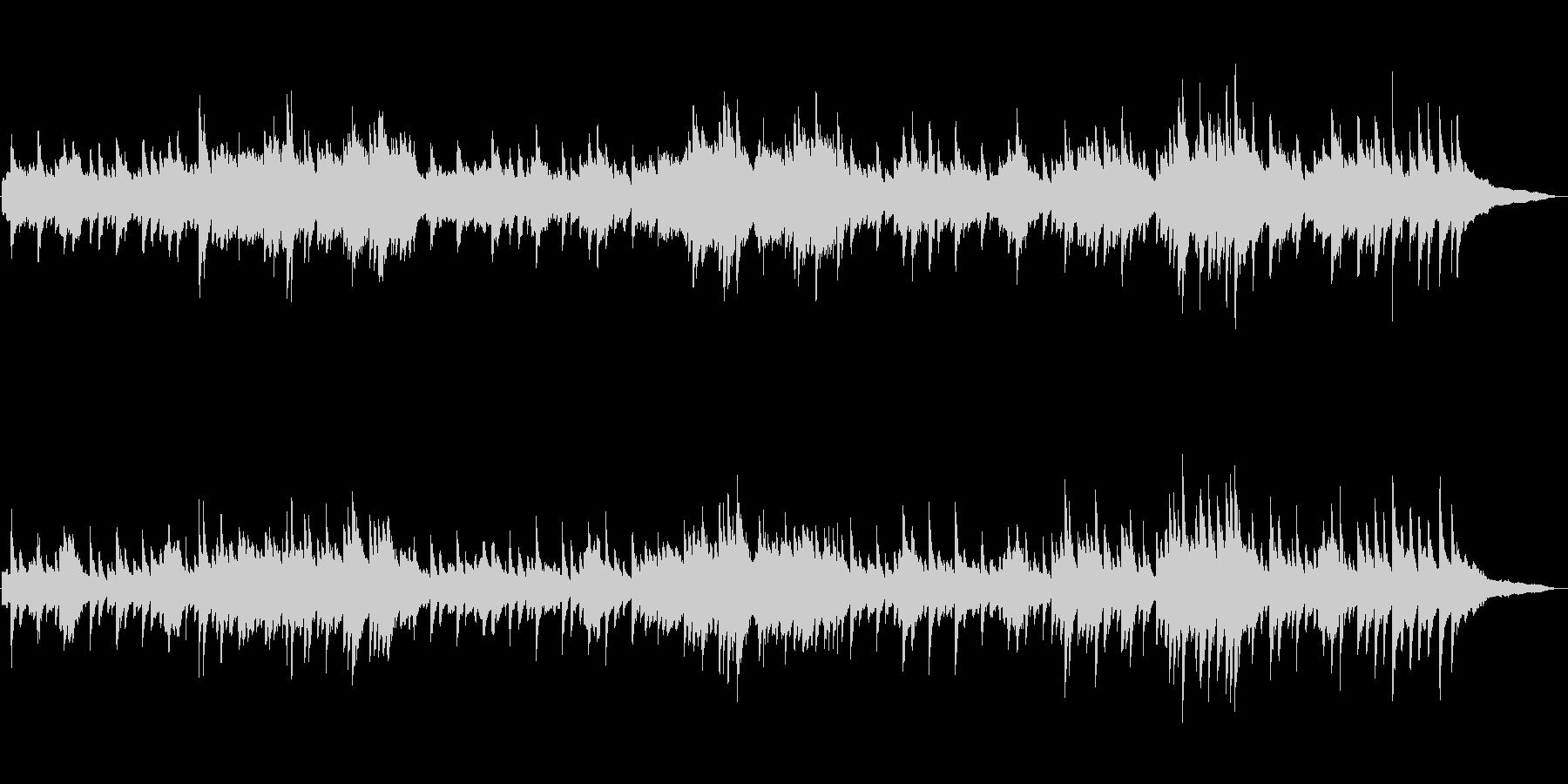 フルートとピアノの ほのぼのとしたワルツの未再生の波形