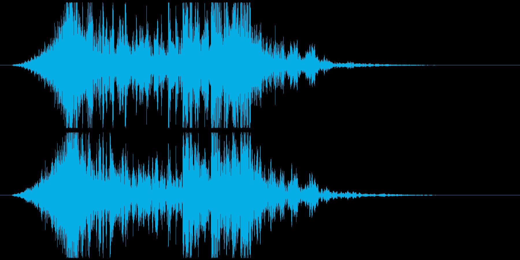 壮大で激しいリズムのサウンドロゴB(短)の再生済みの波形