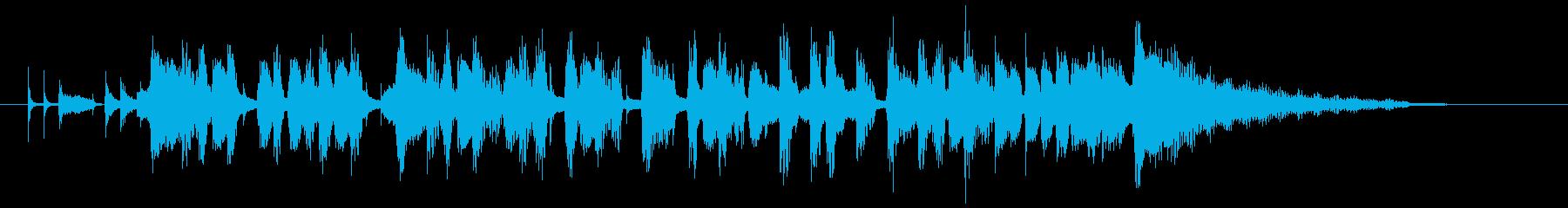 おしゃれでしっとりしたエレピのボサノバの再生済みの波形