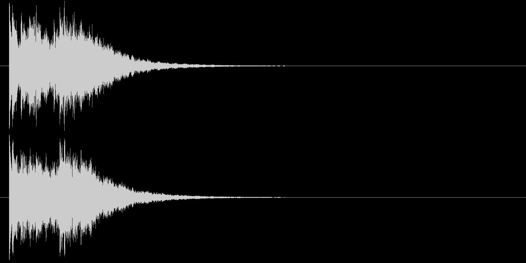 レベルアップ キラキラ 1の未再生の波形