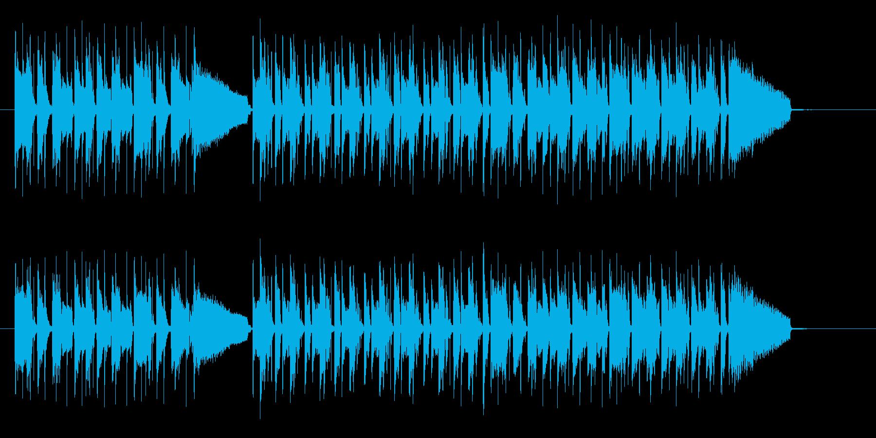 ポップで軽快なエレキジングルの再生済みの波形
