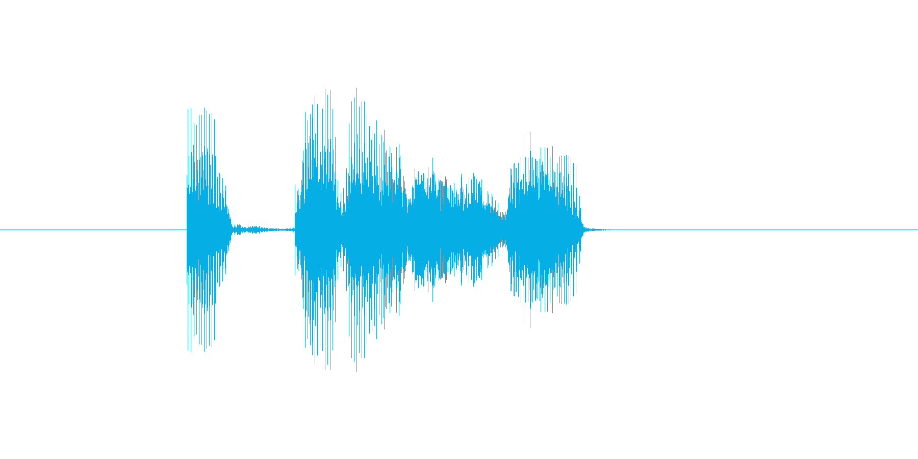 いってらっしゃい(落ち着いた女性の声)の再生済みの波形