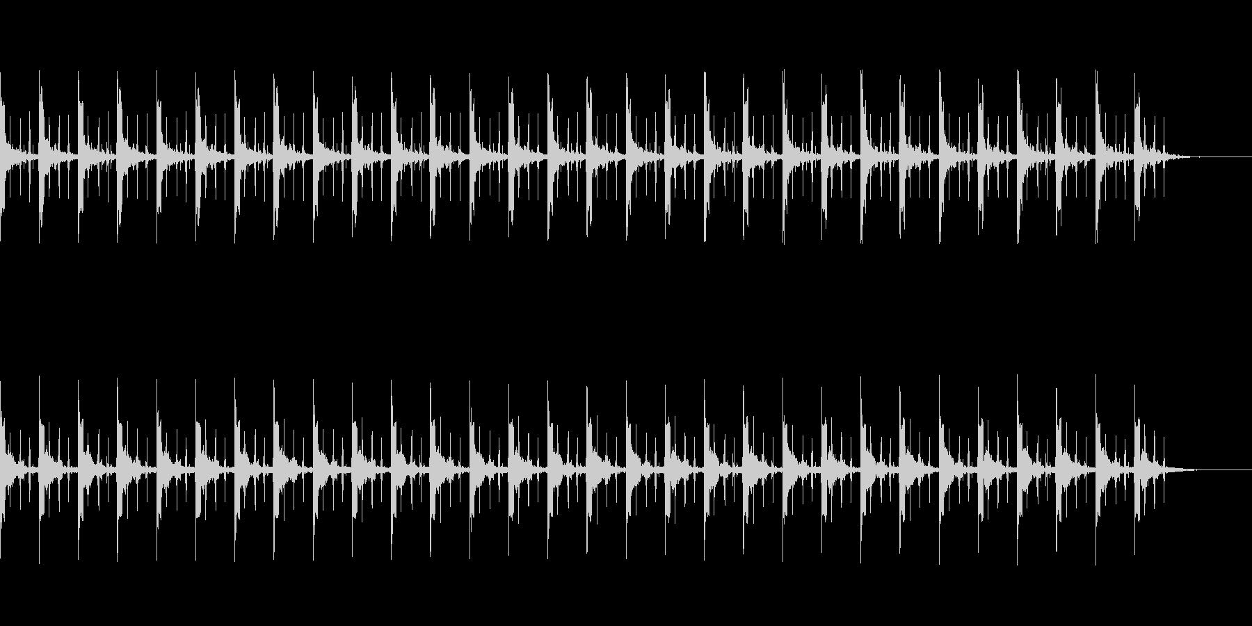 ピッピ+秒針 カウント30秒の未再生の波形