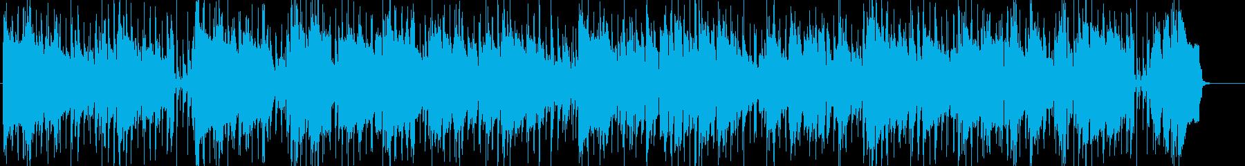 ジャズサックスの楽しく軽快なバンド曲の再生済みの波形
