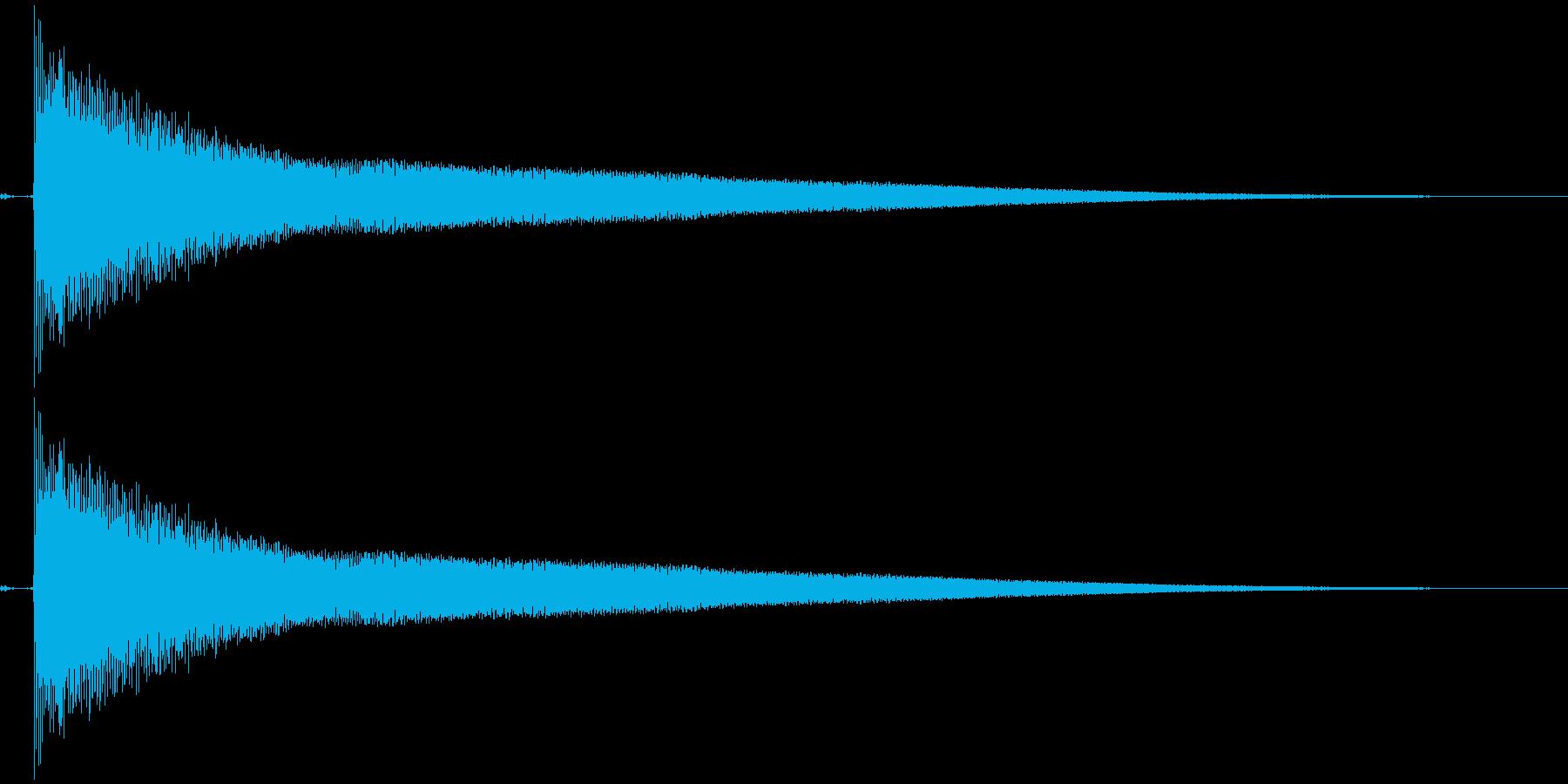 間抜け演出音3の再生済みの波形