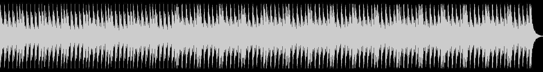 ピアノとストリングスの緊迫感あるBGMの未再生の波形