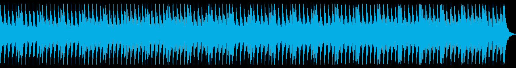 ピアノとストリングスの緊迫感あるBGMの再生済みの波形