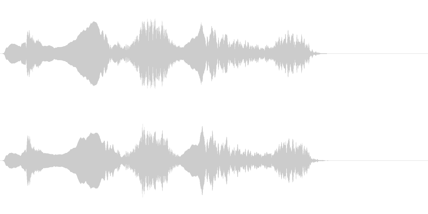 尺八 生演奏 古典風#3の未再生の波形