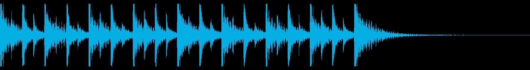 ドカドカと賑やかな打楽器のアンサンブル2の再生済みの波形