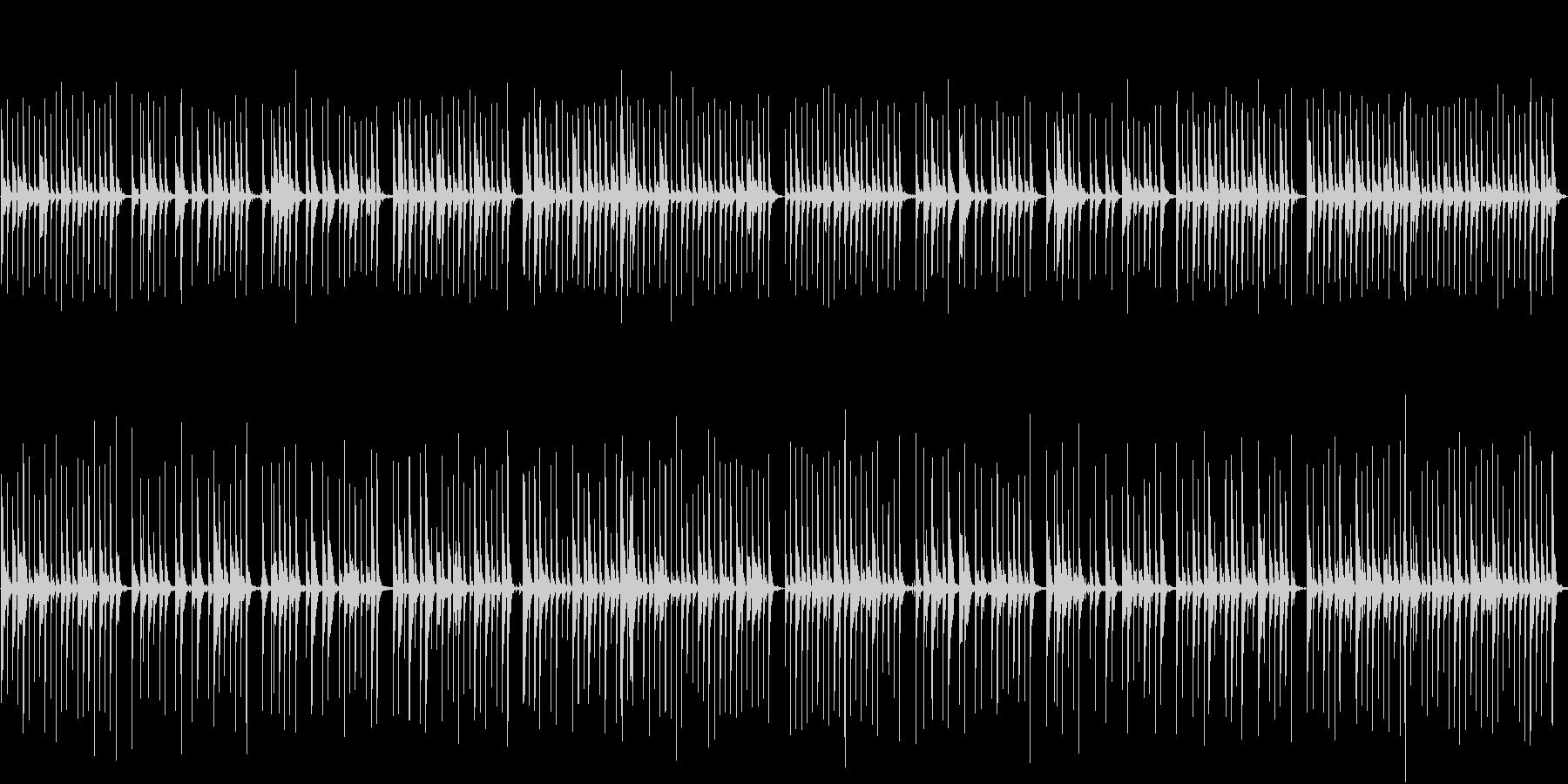 笛とカリンバのオーガニックな雰囲気の未再生の波形