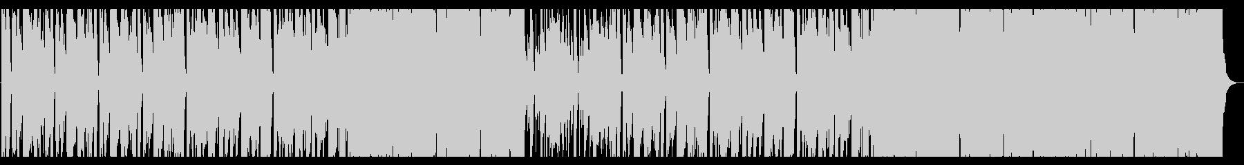 アップテンポなファンクテイストBGMの未再生の波形
