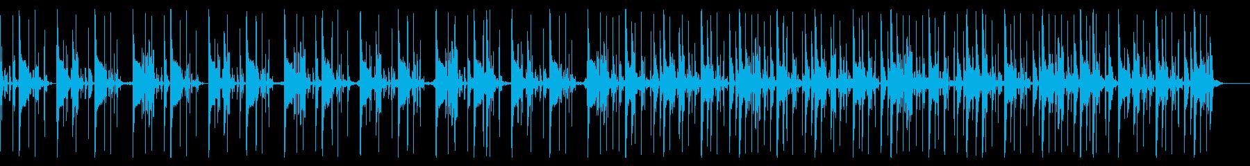 キックなし、120 BPMの再生済みの波形