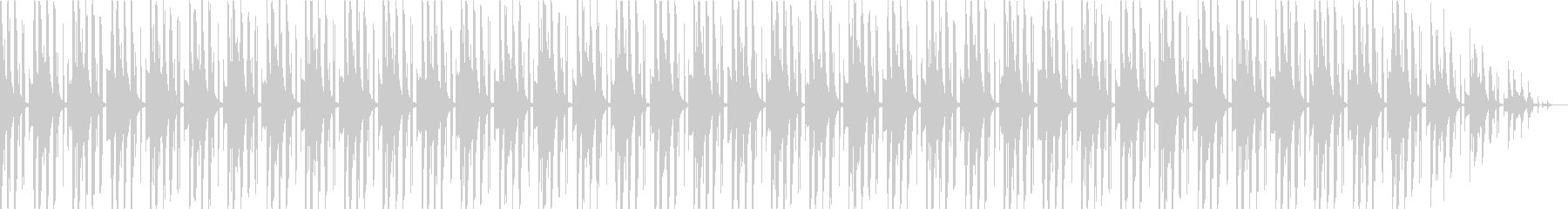 VP・日常シーンに 少しコミカルなテクノの未再生の波形