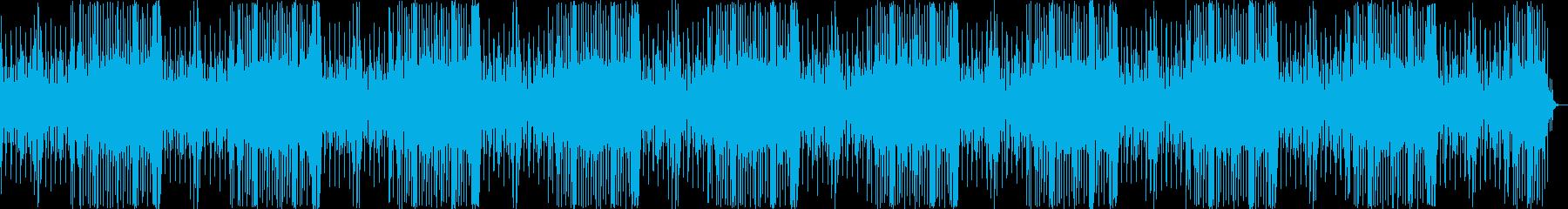 ミステリアスな雰囲気の音楽の再生済みの波形