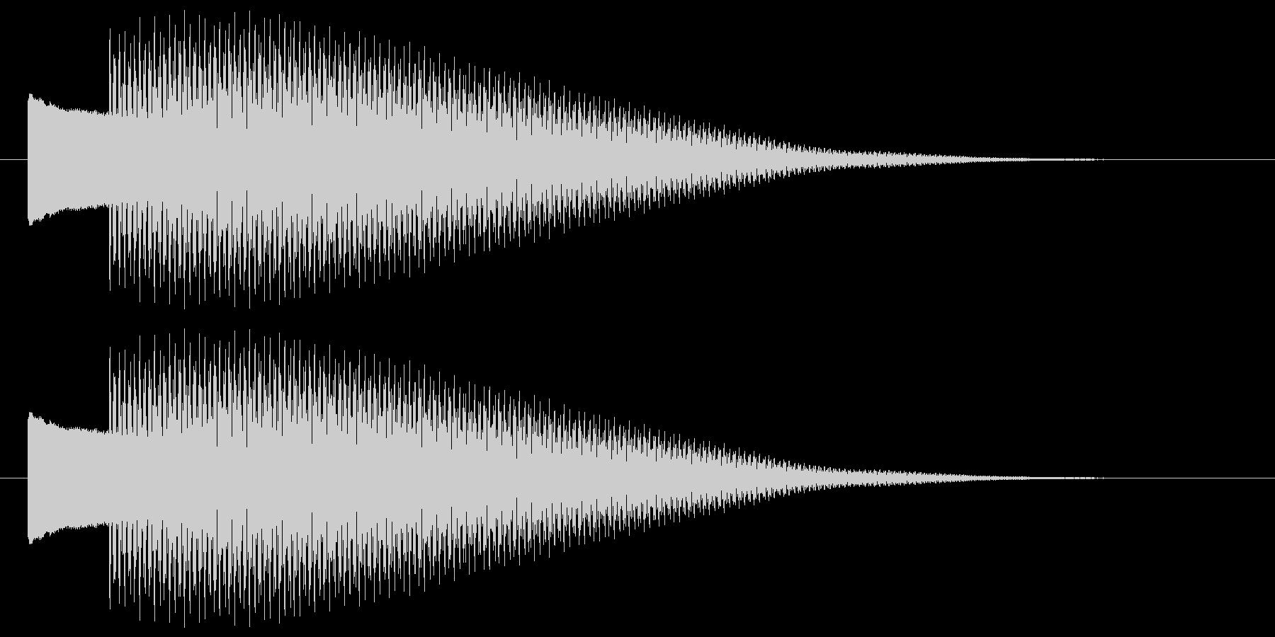 ピコーン 決定 選択 開始 セレクト音の未再生の波形