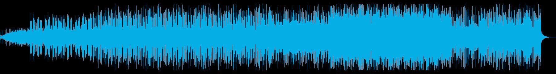 ピアノとブレイクビーツのシンセ系BGMの再生済みの波形