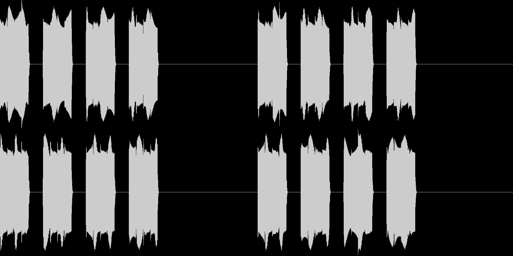 ピピピピッ..。携帯の着信音A(短め)の未再生の波形