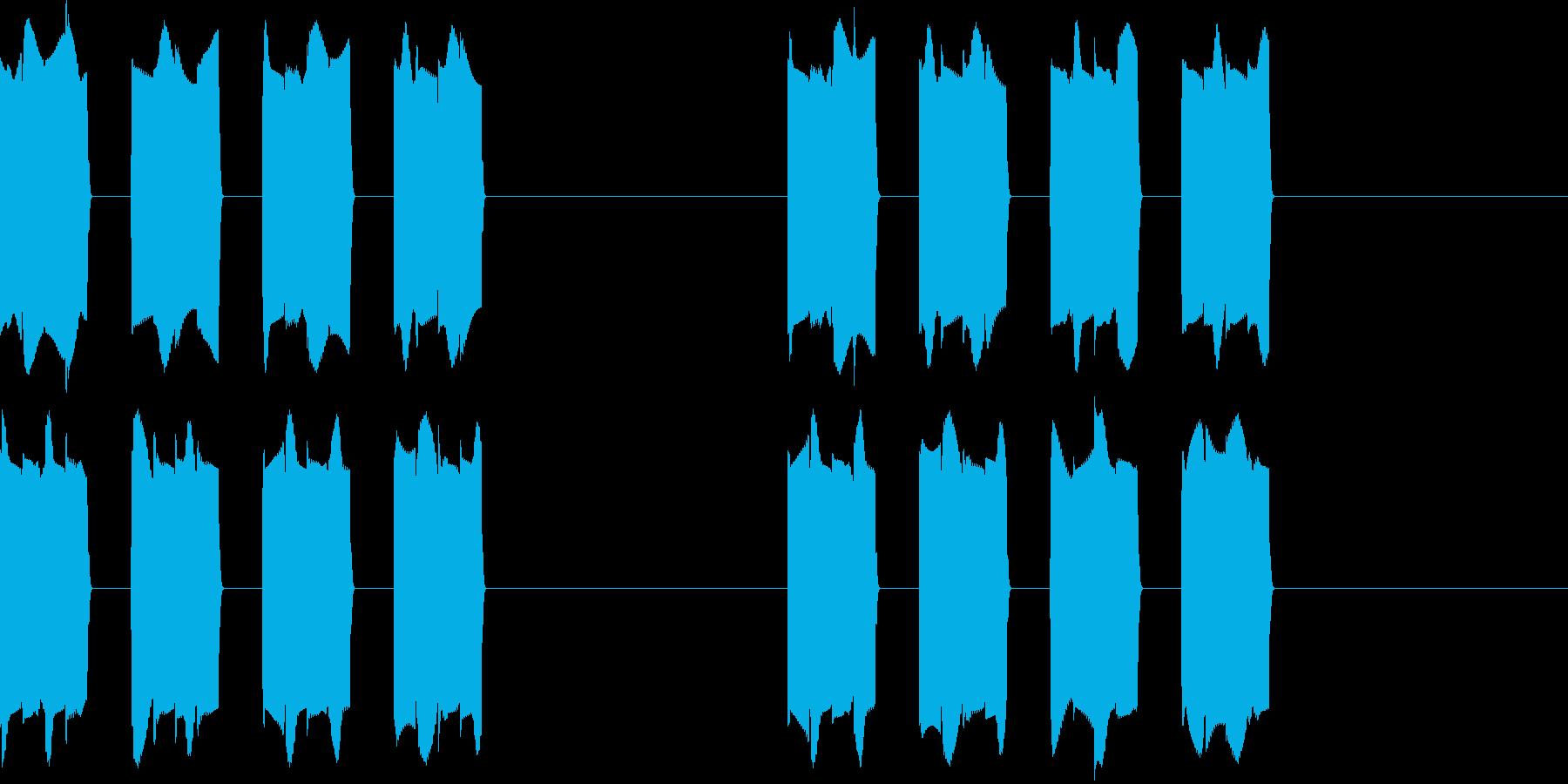 ピピピピッ..。携帯の着信音A(短め)の再生済みの波形