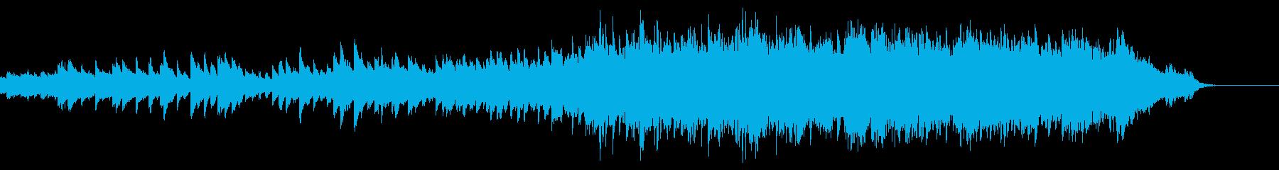 オルゴールとストリングスの優しい曲の再生済みの波形