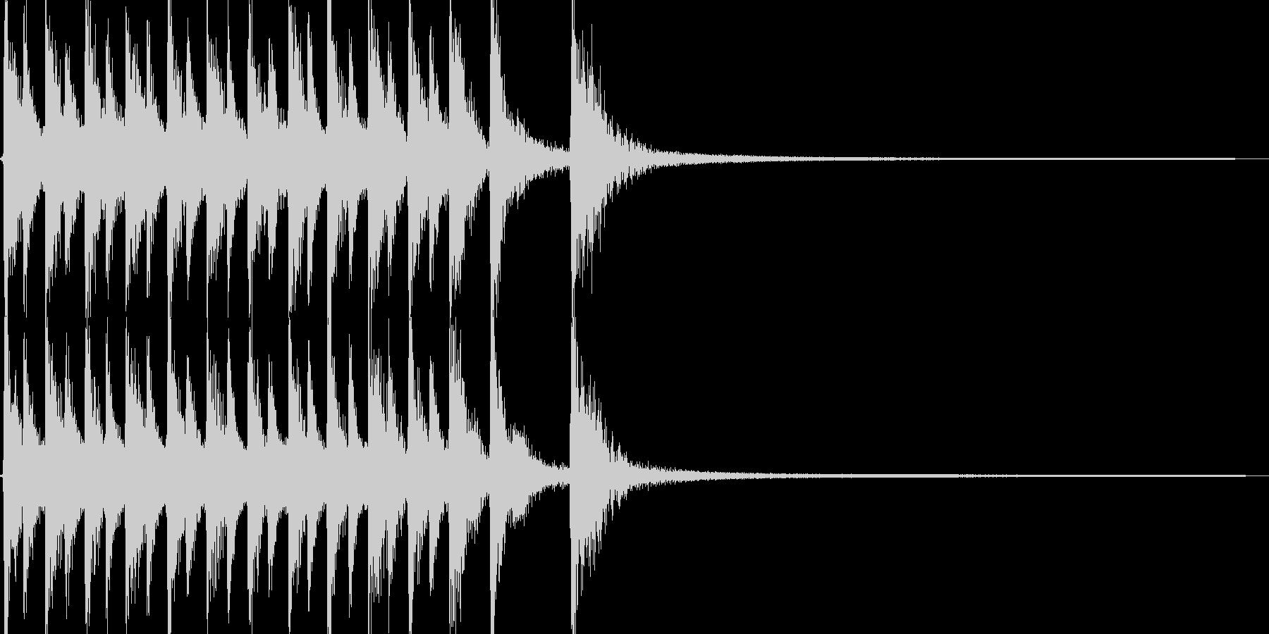 コミカルで軽妙なカントリージングルの未再生の波形