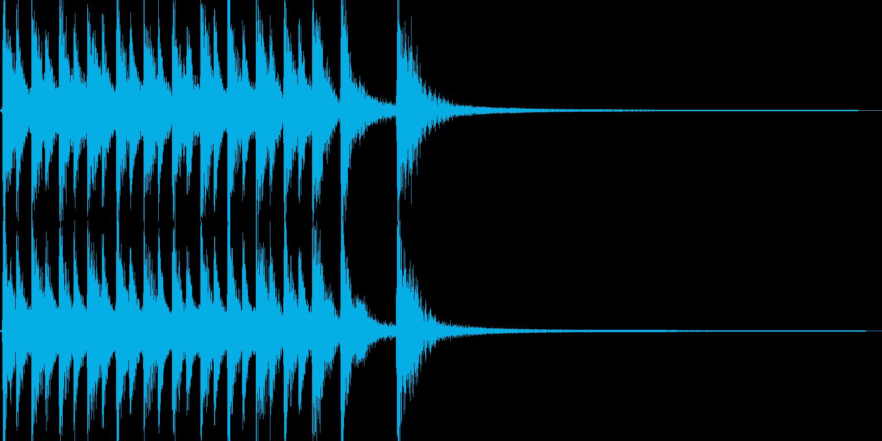 コミカルで軽妙なカントリージングルの再生済みの波形