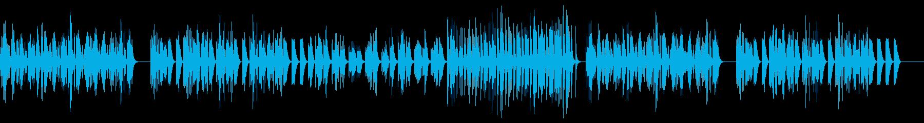 lo-fi風ピアノバラードの再生済みの波形