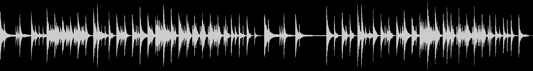 ピアノだけのしっとり切ないけど癒しの曲の未再生の波形