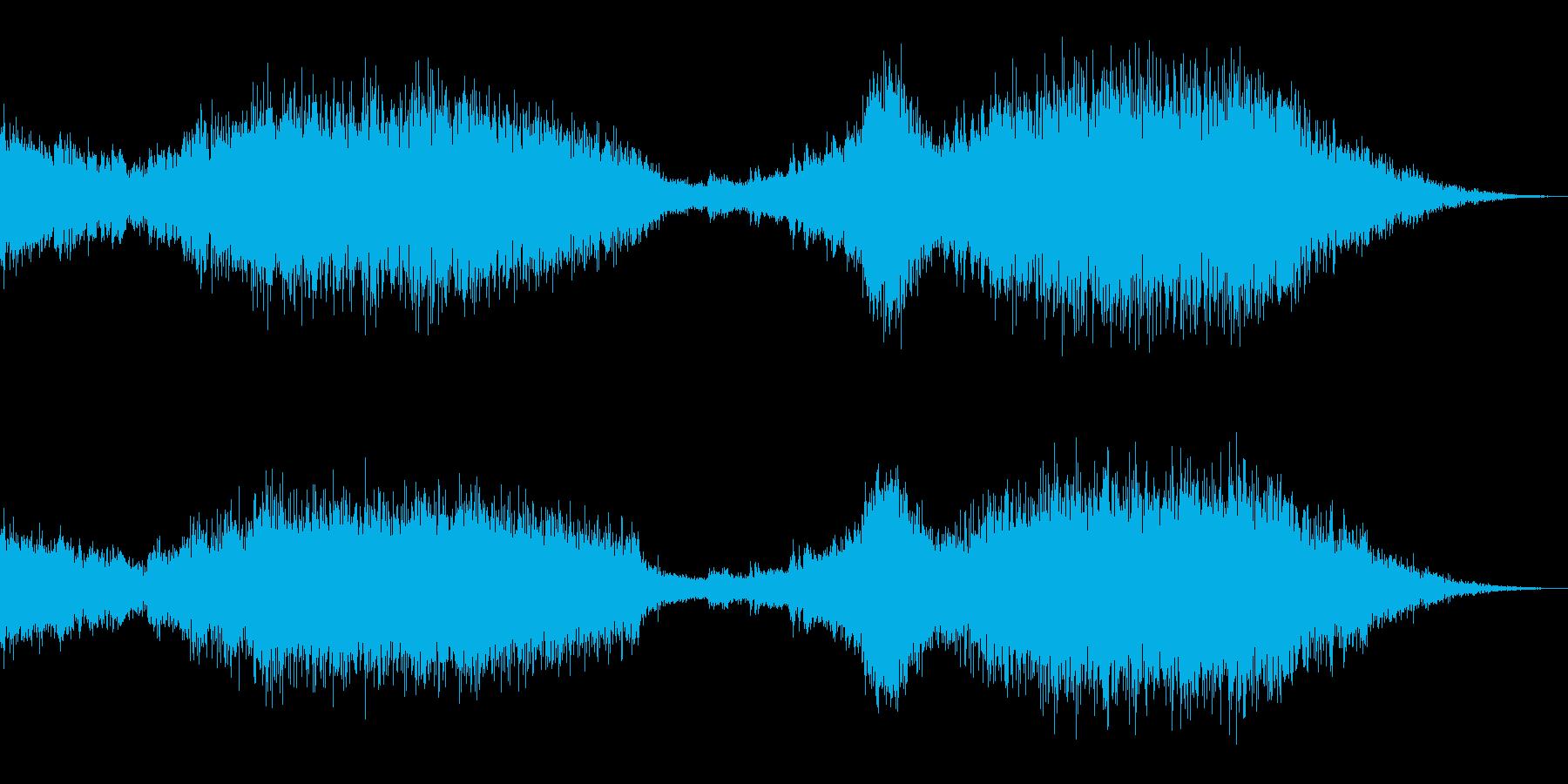 バトルシーケンス:宇宙戦、2隻の宇宙戦の再生済みの波形