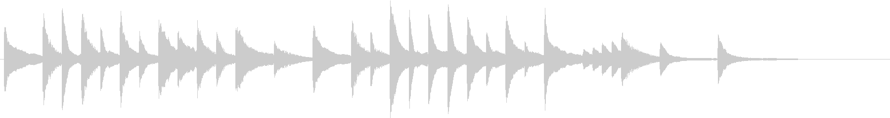 童謡・夕焼小焼モチーフのピアノジングルAの未再生の波形