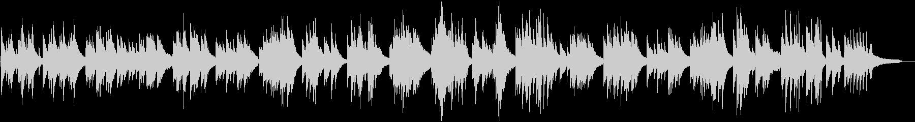 シンプルな日本のメロディーのピアノワルツの未再生の波形