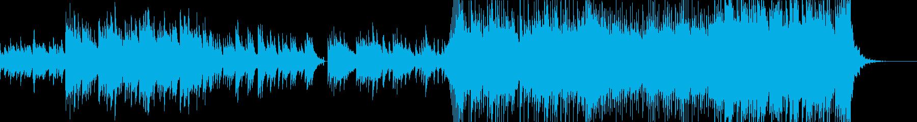 ピアノを中心とした切なく郷愁的なBGMの再生済みの波形