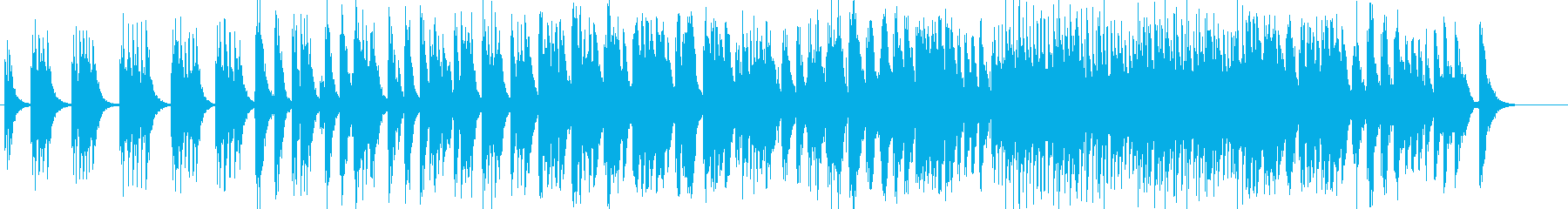 アフリカ固有のドラムでアフリカの音...の再生済みの波形