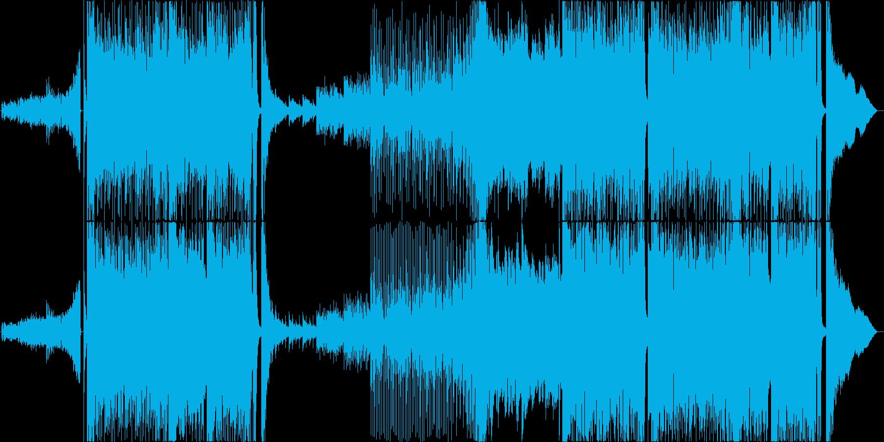 戦闘・バトル・Djent・ヘビーメタルの再生済みの波形