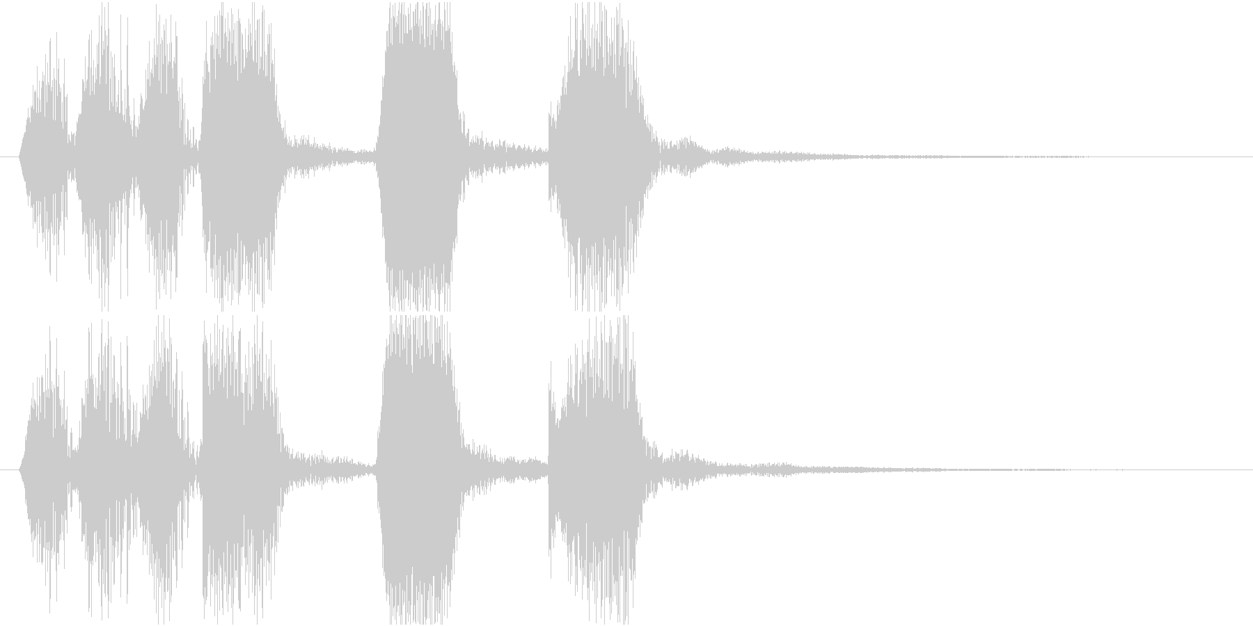 ほのぼのとしたジングルの未再生の波形