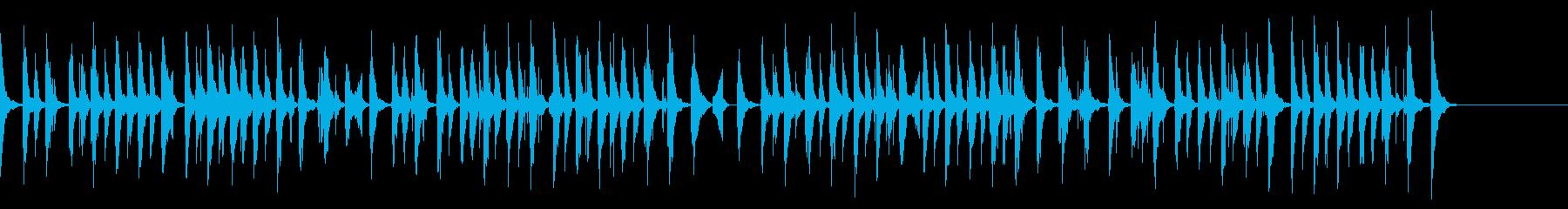 ほのぼのとした中でも活気のあるBGMの再生済みの波形