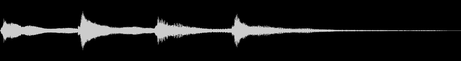 ピンポンパンポンの未再生の波形