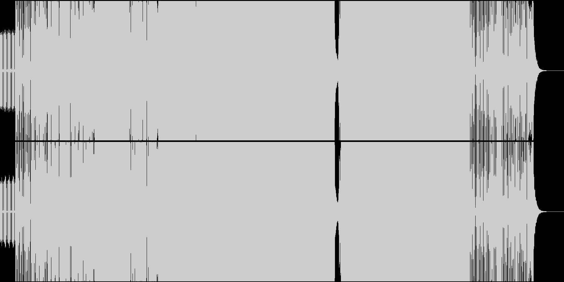 シンセがピコピコ鳴っているヘビーロックの未再生の波形