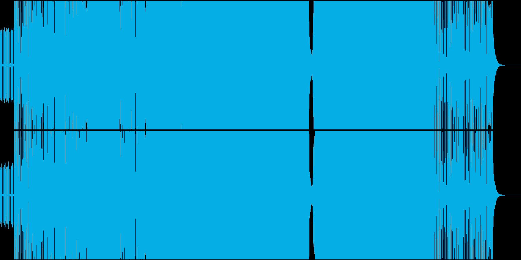 シンセがピコピコ鳴っているヘビーロックの再生済みの波形