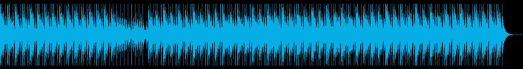 美しく和やかなハウス風楽曲の再生済みの波形