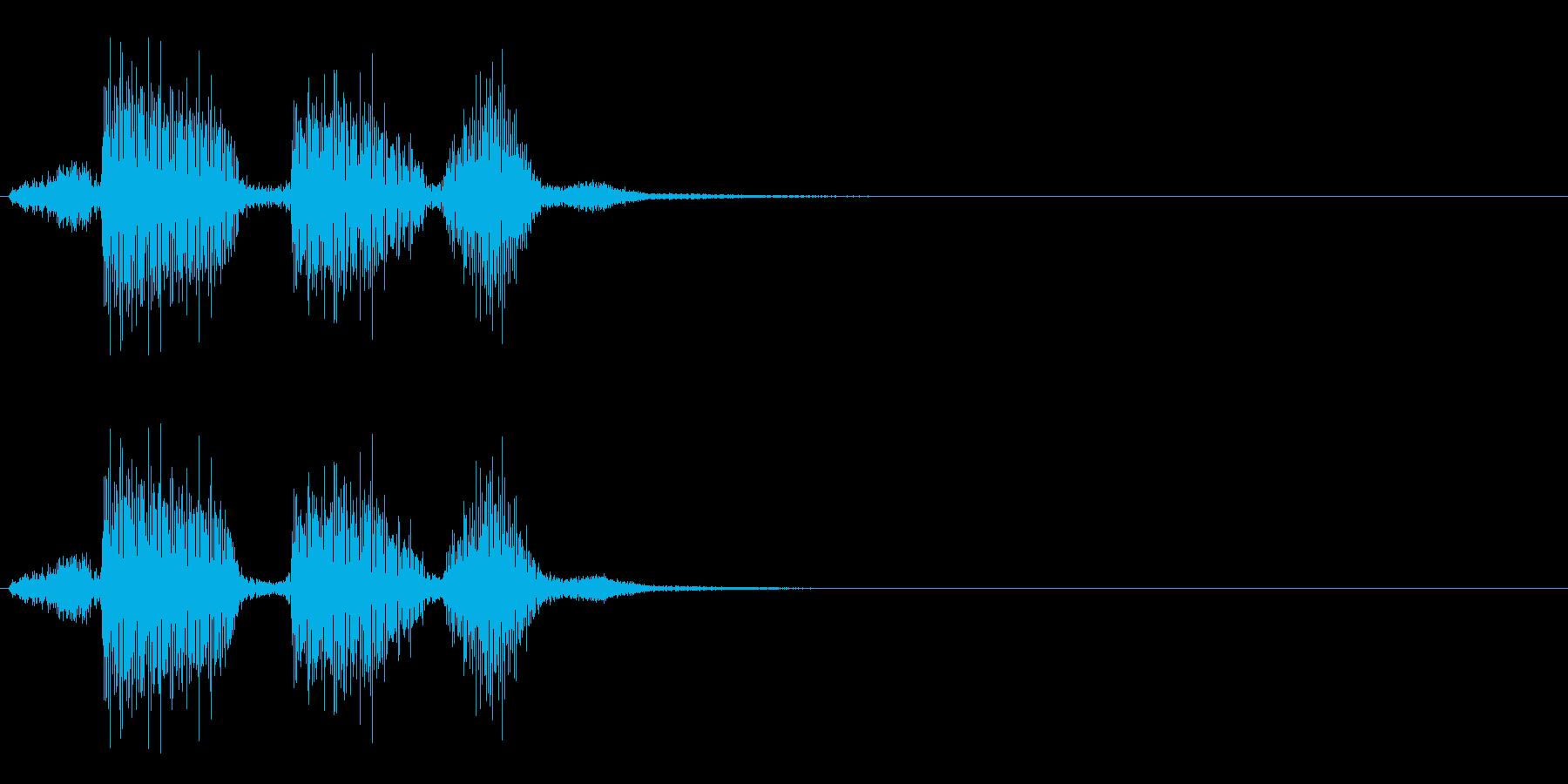 ロボット クイズ「正解です」の再生済みの波形