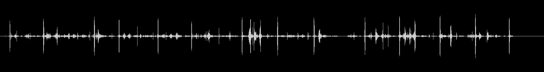 泥の中のシャベル-庭-楽器の未再生の波形