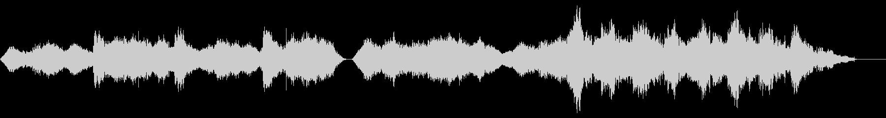 不気味で独特なリズムのメロディーの未再生の波形